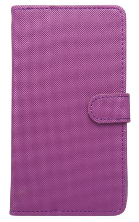 Husa tip carte cu stand universala reglabila mov pentru telefoane cu diagonala de 5,2 - 5,5 inch