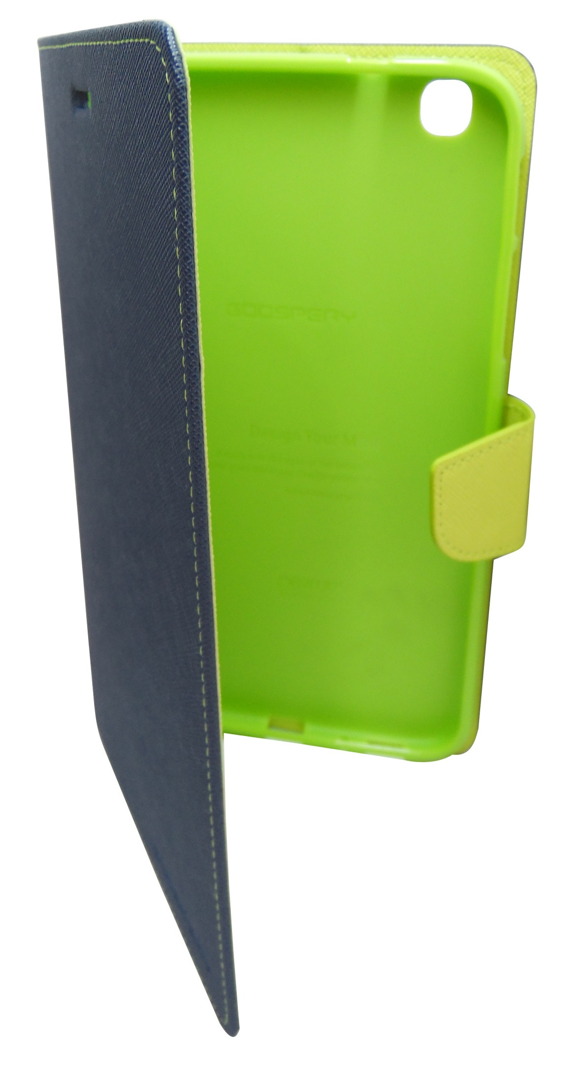 Husa tip carte Mercury Goospery Fancy Diary bleumarin + verde deschis pentru Samsung Galaxy Tab 3 8.0 (SM-T310, SM-T311, SM-T315)