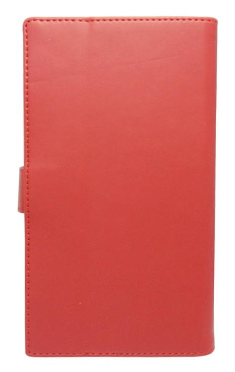 Husa tip carte cu stand universala reglabila (Modern) rosie pentru telefoane cu diagonala de 5,2 - 5,8 inch