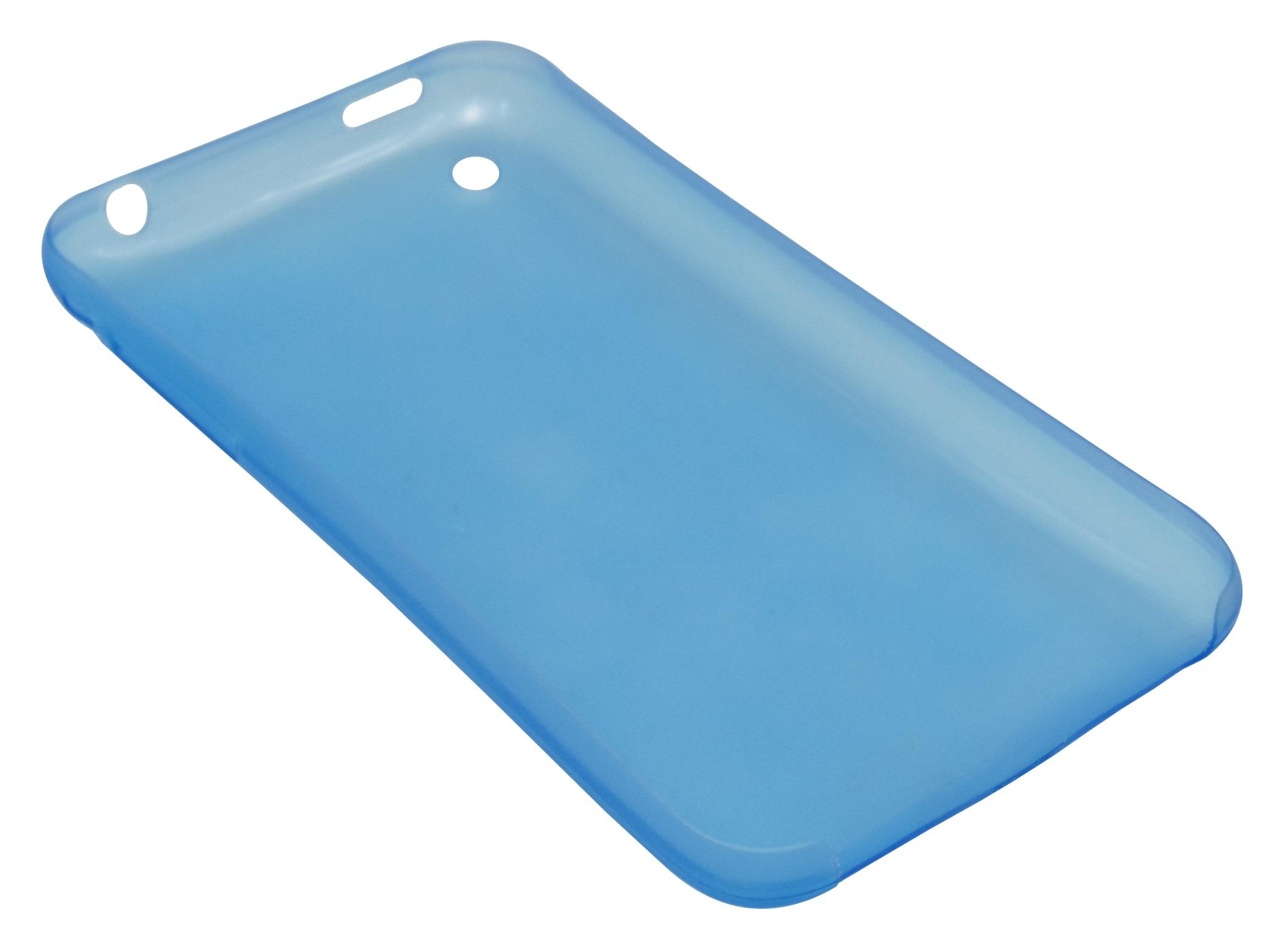 Husa ultraslim albastra semitransparenta pentru Apple iPhone 3G/3GS