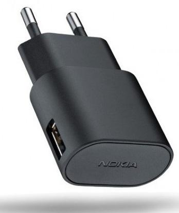 Incarcator Retea Adaptor Nokia Ac-50e + Cablu Microusb Ca-190cd Negru Pentru Telefoane Nokia