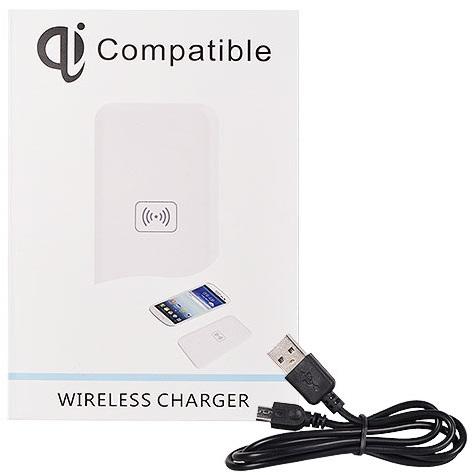 Incarcator Wireless Universal Compatibil Qi T-02 Pentru Telefoane Cu Incarcare Wireless Alb