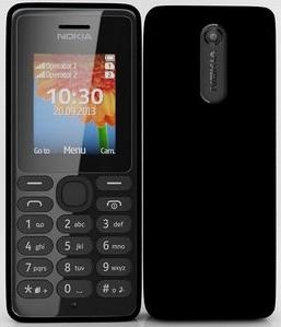 Nokia 108 Single Sim Black