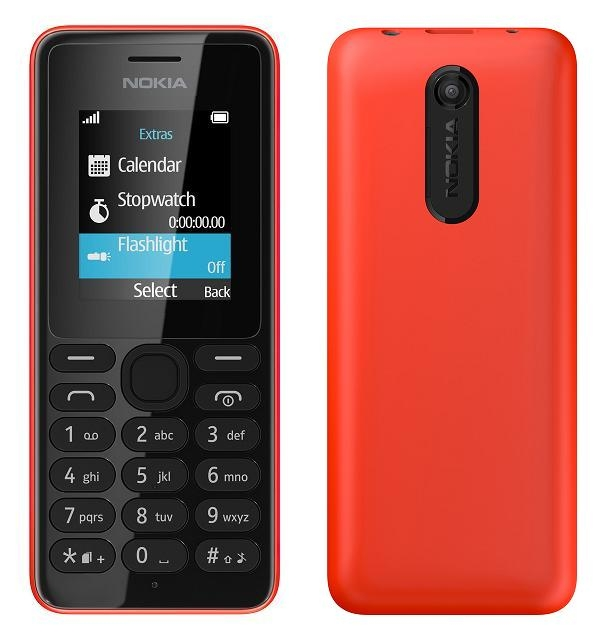 Nokia 108 Single Sim Red