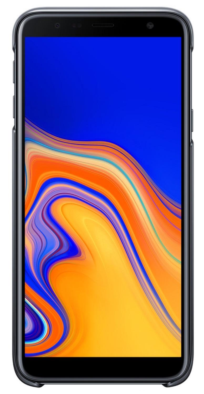 Husa Samsung EF-AJ415CBEGWW plastic negru semitransparent degrade pentru Samsung Galaxy J4 Plus 2018 (SM-J415F)
