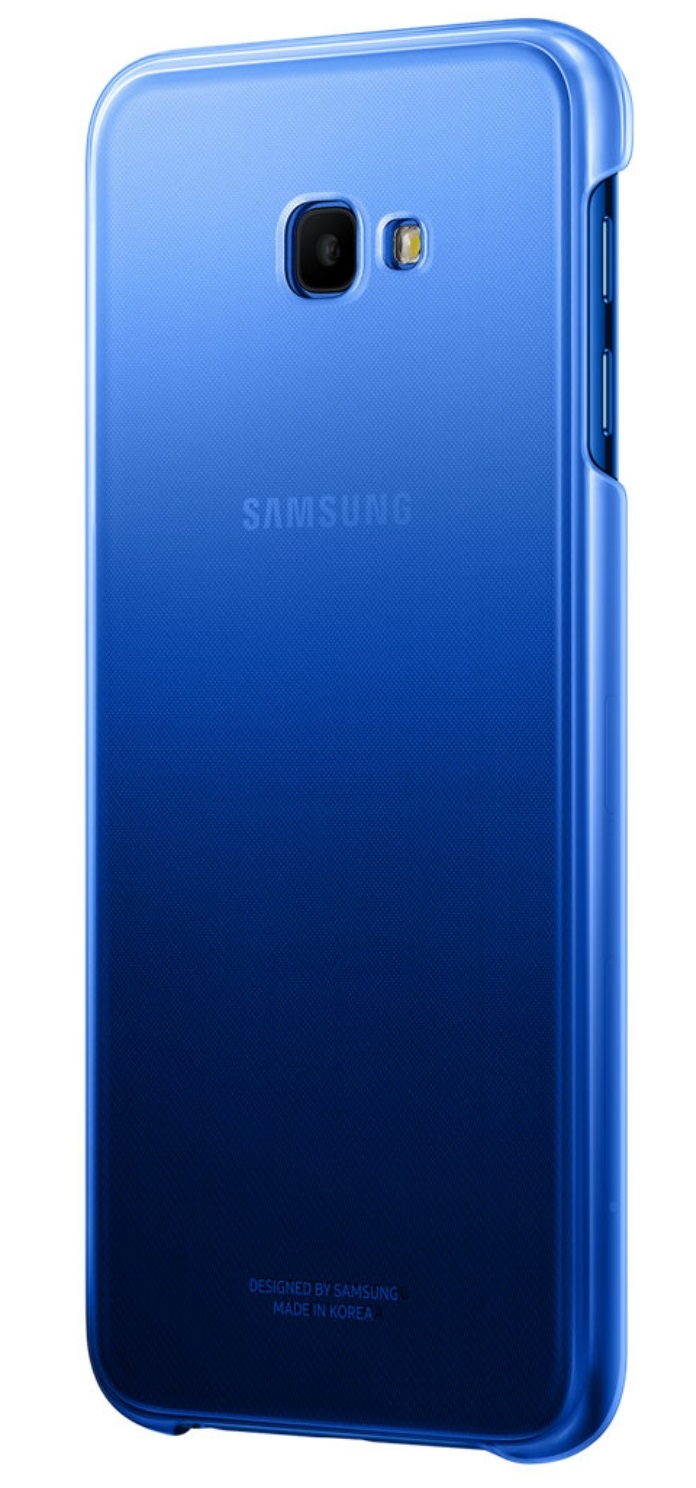 Husa Samsung EF-AJ415CLEGWW plastic albastru semitransparent degrade pentru Samsung Galaxy J4 Plus 2018 (SM-J415F)