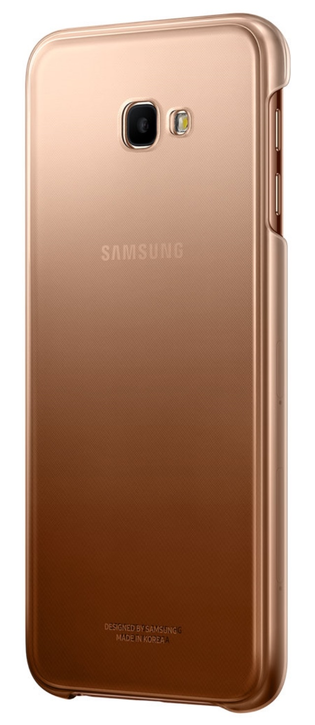 Husa Samsung EF-AJ415CFEGWW plastic auriu semitransparent degrade pentru Samsung Galaxy J4 Plus 2018 (SM-J415F)