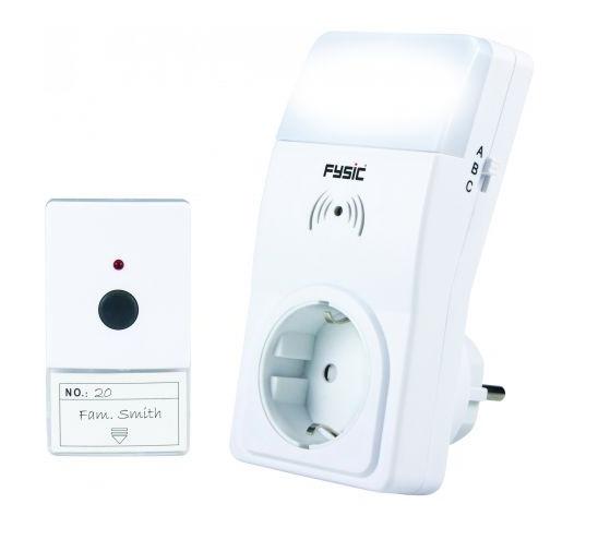 Sonerie fara fir cu semnal acustic si luminos Fysic FD-100 pentru seniori