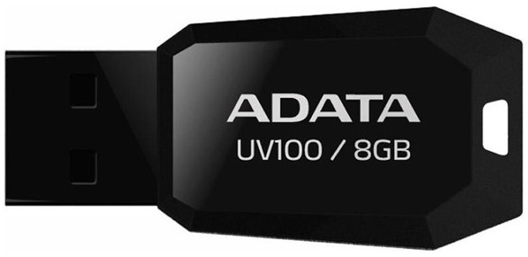 Stick De Memorie Adata Uv100 Usb 2.0 8gb Negru