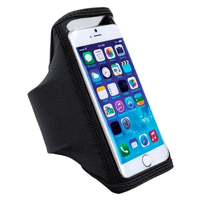 Husa tip banderola elastica pentru antebrat neagra pentru telefoane cu diagonala de 5