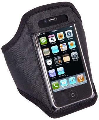 Banderola reglabila neagra pentru telefoane Apple iPhone 4/4S, iPhone 3G/3GS, Samsung S5830, S5570, HTC One V, Nokia Lumia 800, Motorola Defy + / Defy