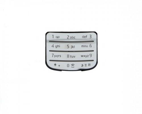 Tastatura telefon Nokia 6700 argintie