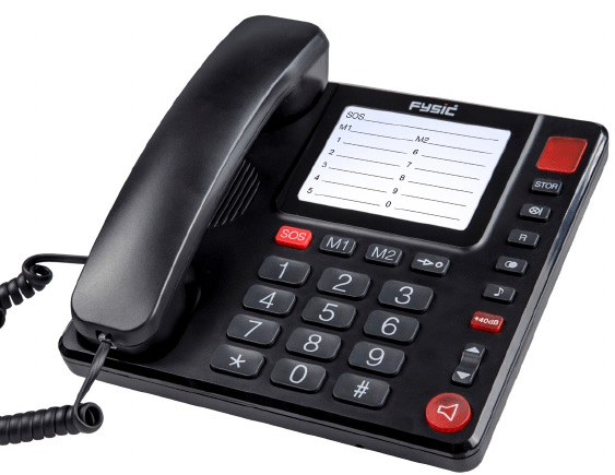 Telefon fix Fysic FX-3920 cu spatiu pentru notite