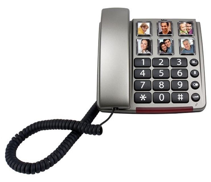 Telefon fix Profoon TX-560 cu butoane mari si 6 locuri pentru fotografii, pentru seniori